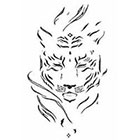 JoellesEmporium Tiger Temporary Tattoo, Tiger Illustration, Large Temporary Tattoo, Birthday Gift For Men, Gift Idea, Modern Art, Fashion Accesories