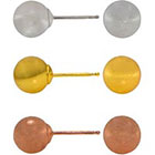 JCPenney FINE JEWELRY 3-Pc. Ball Stud Earring Set Tri-Tone 14K Gold Over Sterling Silver