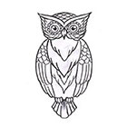 Soma Art Tattoo Custom Owl Temporary Tattoo -SomaArtTattoo Temporary Tattoo - wrist quote tattoo body sticker fake tattoo small tattoo