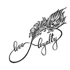 Soma Art Tattoo Custom Love Loyalty Feather Infinity Temporary Tattoo -SomaArtTattoo Temporary Tattoo wrist quote tattoo body sticker fake tattoo Wedding