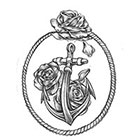 Soma Art Tattoo Custom Boat Anchor with Rose Temporary Tattoo -SomaArtTattoo Temporary Tattoo - wrist quote tattoo body sticker fake tattoo small tattoo