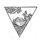 Soma Art Tattoo Custom Ark Triangle Temporary Tattoo -SomaArtTattoo Temporary Tattoo - wrist quote tattoo body sticker fake tattoo small tattoo