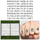 Tattify Light Reading - Temporary Tattoo (Set of 16)