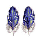 Ombeyond TEMPORARY TATTOO - Set of 2 Blue Feathers