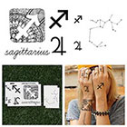 Tattify Sagittarius - Temporary Tattoo (Set of 14)