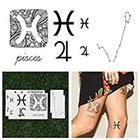 Tattify Pisces - Temporary Tattoo (Set of 14)