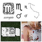 Tattify Scorpio - Temporary Tattoo (Set of 14)