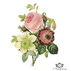 Wickedly Lovely Vintage Floral Botanical Illustration, Body Art, Wickedly Lovely Skin Art Temporary Tattoo