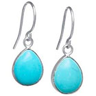 Target Sterling Silver Tear Drop Earrings - Turquoise/Silver