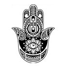 WildLifeDream Hamsa hand - Temporary Tattoo