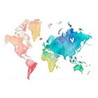 WildLifeDream Colorful world map - Temporary Tattoo