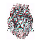 WildLifeDream Triangle and Lion - Temporary tattoo