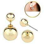 Target Zirconite Women's Zirconite Pearl Peekaboo Earring - Gold