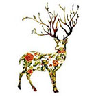 WildLifeDream Floreal Deer - Temporary Tattoo