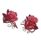 Tattoo LifeStyle Sets two roses with a key and a lock temporary tattoos