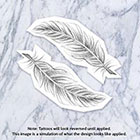 Tatzarazzi Hand Drawn Feather Illustration temporary fake tattoo black simple nature bird