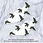 Tatzarazzi Flock of flying birds silhouette temporary tattoo (Each set = 6 birds)