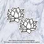 Tatzarazzi Lotus Flower Nature Small Line Drawing Minimal Temporary Fake Tattoo