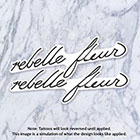 Tatzarazzi Rihanna French Rebelle Fleur Small Minimal Script Calligraphy Temporary Fake Tattoos