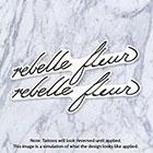Tatzarazzi Rihanna French Rebelle Fleur Small Minimal Script Calligraphy Temporary Fake Tattoos
