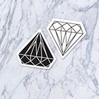 Tatzarazzi White and Black Diamonds Fake Temporary Tattoos