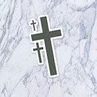 Tatzarazzi Gothic Cross Fake Temporary Tattoos Small Minimal Trendy Fashion (Each set = 3 crosses)