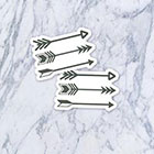 Tatzarazzi Small Tiny Arrows Fake Temporary Tattoos (Each set = 3 arrows)