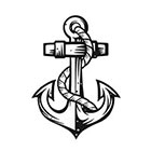 Soma Art Tattoo Bold Anchor Temporary Tattoo SomaArtTattoo Temporary Tattoo wrist quote tattoo body sticker tattoo wedding tattoo small tattoo