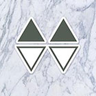Tatzarazzi Small Tiny Simple Minimal Geometric Shape Triangle Fake Temporary Tattoos (Each set = 4 triangles)