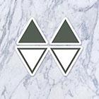 Tatzarazzi Small Tiny Simple Minimal Geometric Shape Triangle Fake Temporary Tattoos (Each set = 4 triangles)