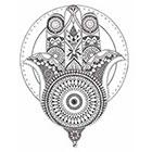 JoellesEmporium Hamsa Hand Temporary Tattoo, Hand Of Fatima Illustration, Large Temporary Tattoo, Birthday Gift, Gift Idea, Spiritual Art, Boho Accessories
