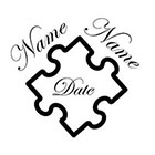Soma Art Tattoo 50 Puzzle Personalized Couple's Name & Wedding Date Wedding Temporary Tattoos SomaArtTattoo - wrist quote wedding favor small tattoo