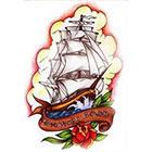 WildLifeDream Old school Ship - Temporary tattoo