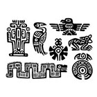 WildLifeDream Maya Aztec Set - Temporary tattoos (Choose your fav)