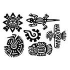 WildLifeDream Maya Aztec Set - Temporary tattoos (Choose your fav)