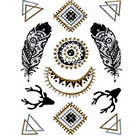 WildLifeDream Gipsy set of gold and silver temporary tattoos
