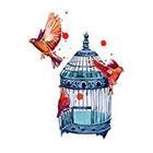 TattooNbeyond TEMPORARY TATTOO - Birds and Birdcage