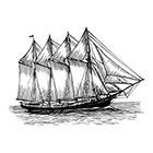 WildLifeDream Vintage schooner - Temporary tattoo