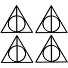 Ombeyond TEMPORARY TATTOO - Set of 2 Harry Potter Deathly Hallows Symbol