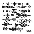 Ombeyond TEMPORARY TATTOO - Set of 15 Arrows / Set of 20 Arrows / Set of 18 / Set of 16 Keys & Locks / Set of 15 Cross