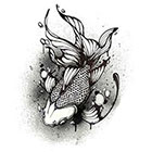 TattooNbeyond Temporary Tattoo - Whale Tail / Gold Fish