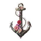 TattooNbeyond Temporary Tattoo - Flower Anchor
