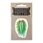 de Krantenkapper Cactus Temporary Tattoo With orange flower