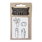 de Krantenkapper Cactus Temporary Tattoo 4 mini's