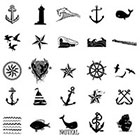 WildLifeDream Set of 25 Nautical Temporary tattoos