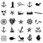 WildLifeDream Set of 25 Nautical Temporary tattoos