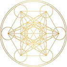 Royaltats Metatron's Cube - Set of 12 Metallic Temporary Tattoos