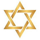 Royaltats Magen David / Star of David - Metallic Temporary Tattoo - Set of 12 Temporary Tattoos **Free Expedited Shipping **