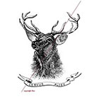 WildLifeDream Deer Alces - Temporary tattoo