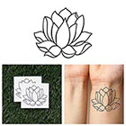 Tattify Two Weeks Lotus - Temporary Tattoo (Set of 2)